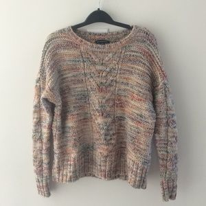 American Eagle Rainbow Crewneck Sweater